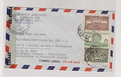 MEXICO,nice airmail censored cover to Germany