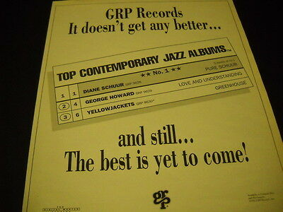 DIANE SCHUUR George Howard YELLOWJACKETS doesn't get any better 1991 PROMO AD