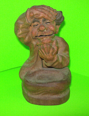 Antique Carved Wood Gnome Nutcracker Black Forest Tiroler Heimatwerk Tyrolean