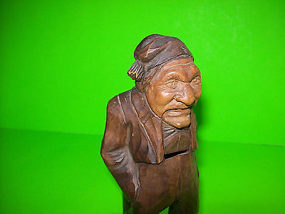 Antique Unique Vintage Hand Carved Wood Standing Man Nutcracker Swiss Luzern