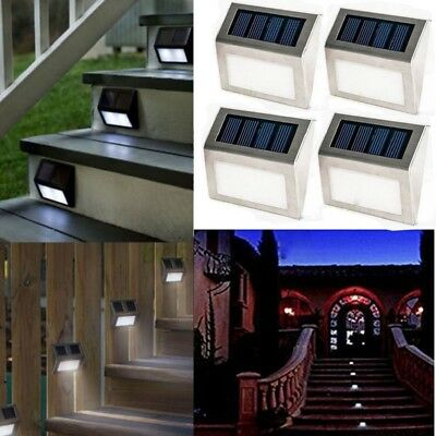4PCS Garden Patio Driveway Bright White Solar Powered Led Decking Deck Lights UK