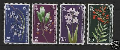 New Hebrides (French) 1973 Orchids SG F189/92 MNH