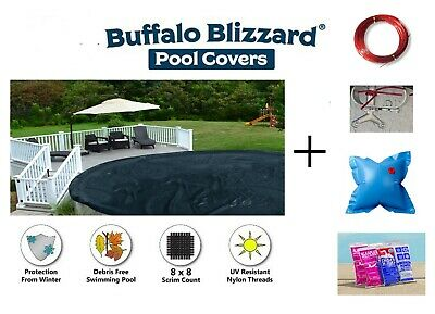 Above Ground DELUXE PLUS Swimming Pool Winter Cover w/ Air Pillow & Chemical Kit