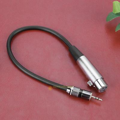 3pin XLR Female to 3.5mm 1/8'' Stereo Plug TRS Audio Microphone Shielded Cable #