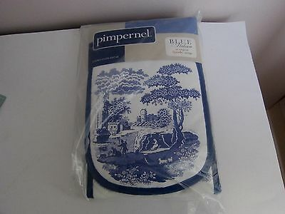 Spode / Pimpernel Blue Italian Double Oven Gloves - Sealed In Pkt