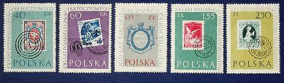 POLAND - 1960 POLISH STAMP CENTENARY - Set of 5 MNH
