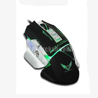 VERKABELT GAMING-MAUS LED-Licht 3200dpi Mechanische Makro-Definition ...