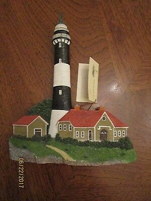 Fire Island New York Lighthouse Plaque Heavy Duty Beautiful With Tag Information