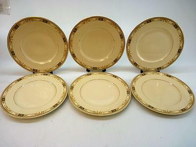 "Lot of  6 Syracuse China Old Ivory WEBSTER Dinner Plates 10.25"" (gs210)"