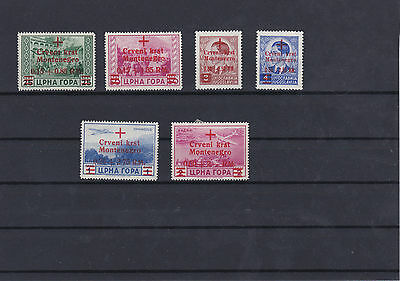 German Occupation Montenegro 1943-4 Mounted Mint Stamps Ref: R4476