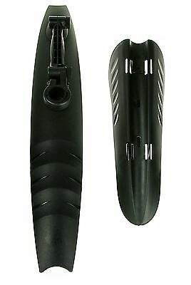 """Front & Rear Bike Mudguard Set 20"""" to 26"""", Black, For 25mm-32mm Seatpost"""