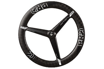 Shimano PRO TeXtreme 3 Spoke Front Wheel Tri-Spoke Carbon Tubular 700c