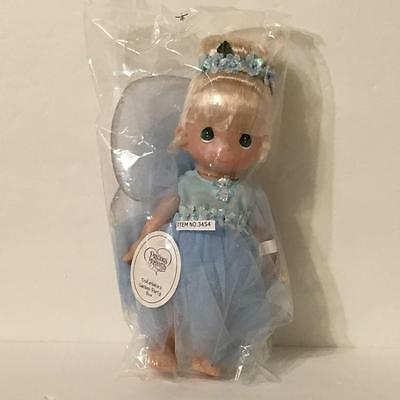 Precious Moments 3454 GARDEN PARTY BLUE TINKERBELLE 9in Vinyl Fairy Doll NWT