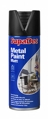 SupaDec Metal Spray Paint 400ml Matt Black