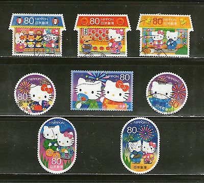 "Japan:8 Diff.""hello Kitty & Dear Daniel"" Grtgs,-2011,odd-Shaped Incl,huts,fu,#20"