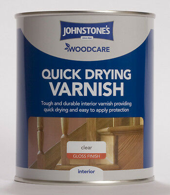 Johnstone's Woodcare Quick Dry Interior Varnish Gloss 750ml Clear