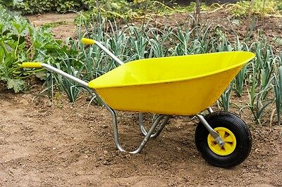 Ambassador Boxed Wheelbarrow 85L Yellow