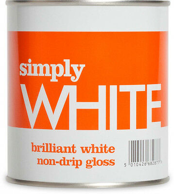 Simply Non Drip Gloss 500ml White