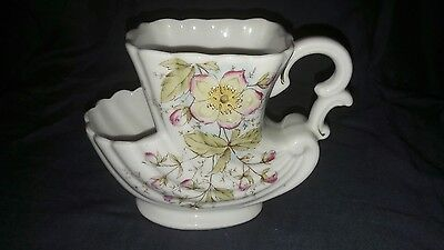 Vintage Porcelain Shaving Mug. Apple Blossom. No Maker.