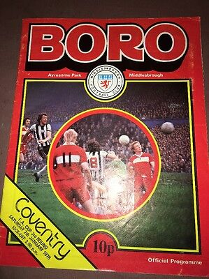 Vintage Middlesbrough (Boro) Fc Football Programme V. Coventry- F.a.cup 1978