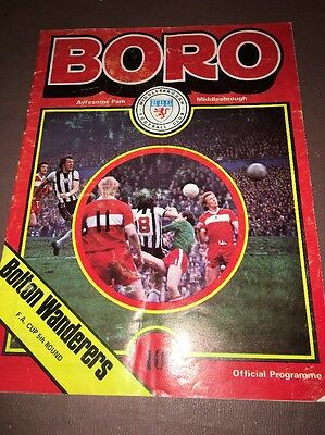 Middlesbrough (Boro) V Bolton Wanderers - F.a.cup 5Th Round 1978 - Ayresome Park