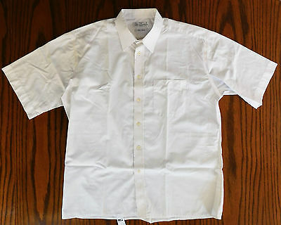St Michael cotton shirt size 17 short sleeves white breast pocket vintage 1990s