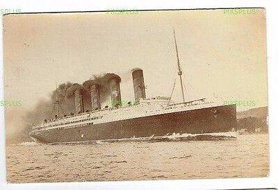 Postcard Rms Lusitania Engine Testing During Sea Trials July 1St 1907 Real Photo