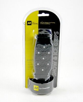 AA Snow & Ice Grips 1 Pair Crampons Universal Fit Attach to Footwear, Studs