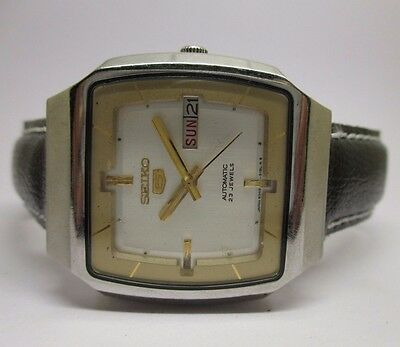 Genuine 6349 Vintage Men's Seiko 5 Automatic Day And Date Beautiful Wrist Watch