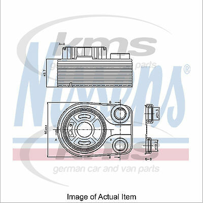 New Engine Oil Cooler NISSENS 90705 Top Quality