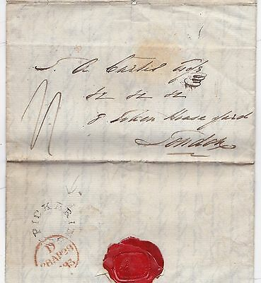 1835 Peter Scott Letter At Smeaton To Curtis In London Udc Pickering N Yorkshire