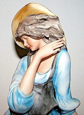 Large Capodimonte Beautiful Woman Porcelain Figure for Ethan Allen Signed