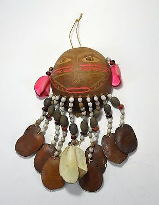 Rare Peru Amazon Indian Gourd mask Bora peoples