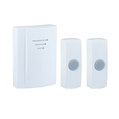Byron Portable chime kit with 2 bell pushes White