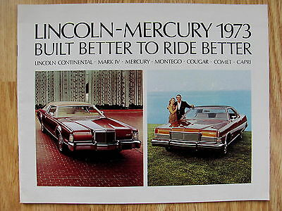 1973 LINCOLN-MERCURY Sales Dealer Brochure Advertisment 31 Pages New Model Guide