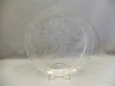 Arcoroc France Canterbury Crocus Pattern Clear Tempered Glass 10.75 Dinner Plate