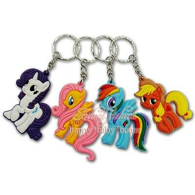New 8PCS Lovely My Little Pony PVC Keychain Pendant Children Birthday Gifts
