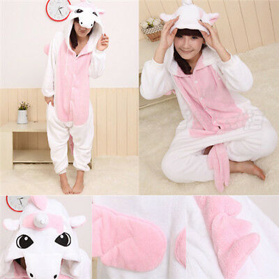 New Adult Pajamas Kigurumi Cosplay Unisex Costume Animal  Sleepwear Unicorn !
