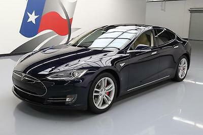 2014 Tesla Model S  2014 TESLA MODEL S P85 TECH PANO ROOF NAV HTD SEATS 34K #P41635 Texas Direct