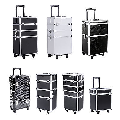 Songmics trolley kosmetikkoffer schminkkoffer friseurkoffer gross beauty case