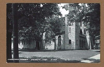 RPPC Spencer,IN Indiana, Christian Church circa 1950's