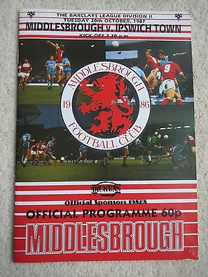 Middlesbrough V  Ipswich   1987/8