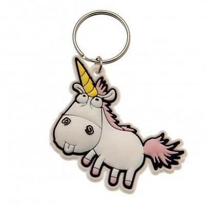 Despicable Me 3 Fluffy Unicorn PVC Keyring with Free UK P&P