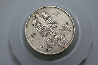GERMANY 10 Mark 1998 Silver - The Francke Foundations A66 #1182