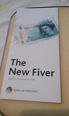 The New Polymer Five Pound Note-Official Leaflet from Bank of England