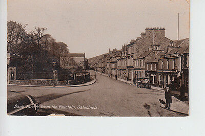 Bank Street from The Fountain, Galashiels, Selkirkshire