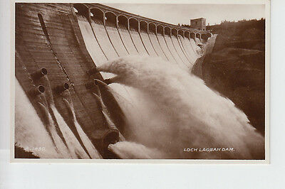Water pouring from Loch Laggan Dam, Inverness-shire