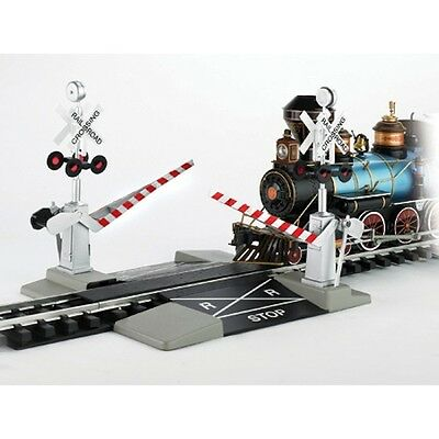 Bachmann 96214 G-Scale Automatic Dual Railroad Crossing Gate with Steel Track