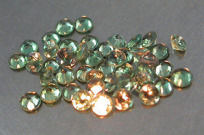 0.71Cts/35Pcs/1.5mm. Dazzling~100%Natural Color Change Alexandrite Rd Russian
