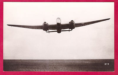 1930s-40s RAF Handley Page Hereford Bomber Photo by Real Photographs Co Ltd